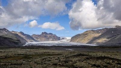 Islande à vélo 2014, un glacier