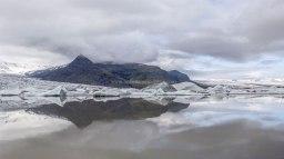 Islande à vélo 2014, lac Fjallsarlon
