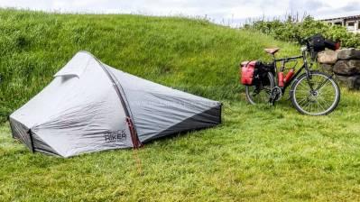 Islande à vélo 2014, camping de grindavik