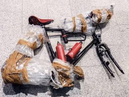 Islande à vélo 2014, déballage du vélo