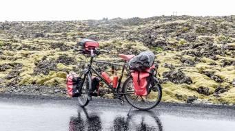 Islande à vélo 2014, départ pour Grindavik