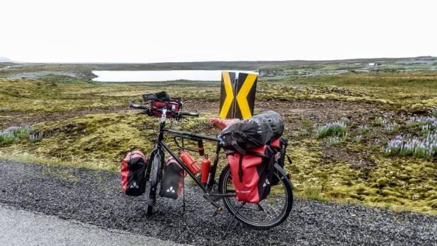 Islande à vélo 2014, le départ pour Grindavik