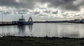 Islande à vélo 2014, port de Grindavik