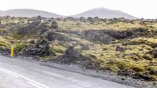 islande à vélo, approche du Blue Lagoon