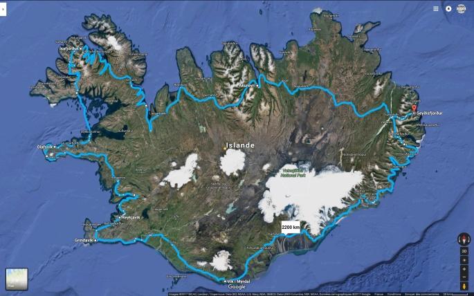 islande à vélo en plein hiver et nuit polaire islandaise