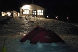 Camping du Sud-Est, en Islande à vélo en hiver