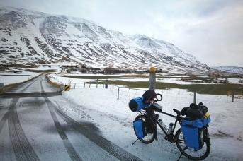 En Islande à vélo en hiver dans le nord