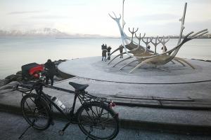 Reykjavik, en Islande à vélo en hiver