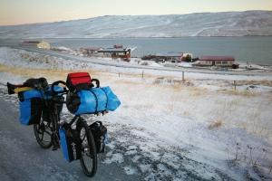 Départ de Bordeyri, en Islande à vélo en hiver
