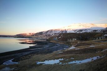 Hvallfjordur, en Islande à vélo en hiver