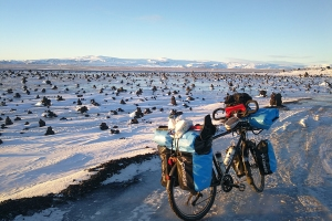 route , dans le sud Est de l'Islande à vélo