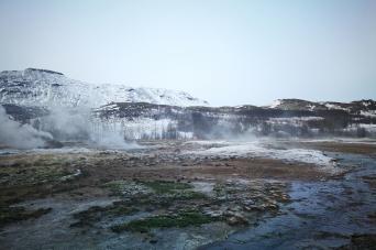 Geysir, en Islande à vélo en hiver