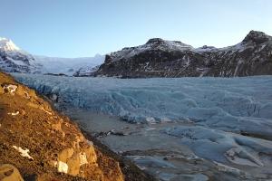 Glacier du sud-Est, en islande à vélo en hiver