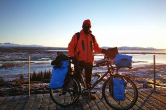 A pingvellir, en islande à vélo en hiver