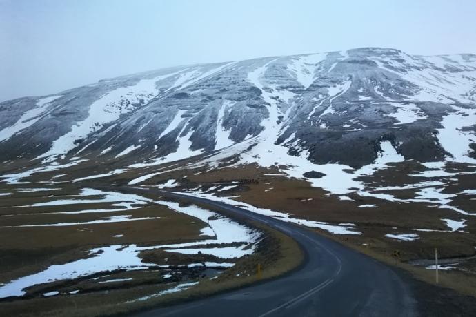 tour de la péninsule de trollaskagi en islande à vélo en hiver