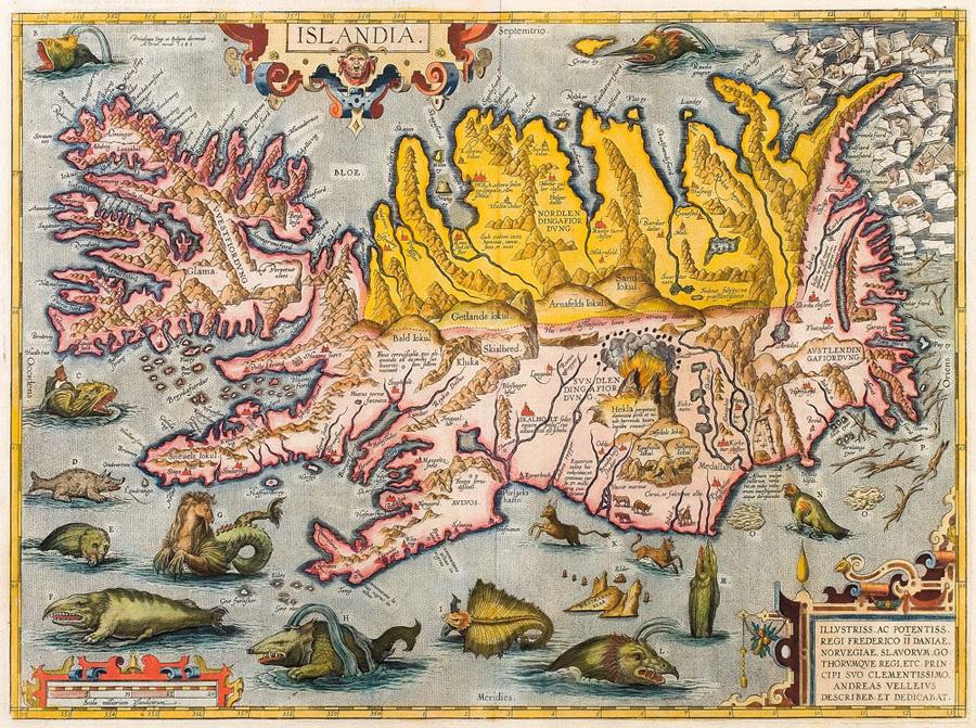 islande-a-velo-carte-ancienne