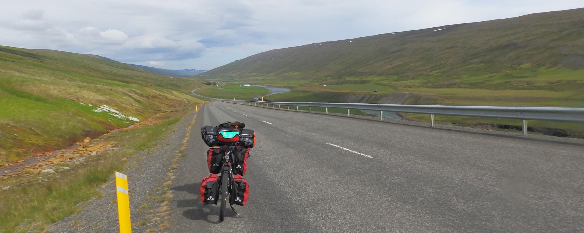En Islande à vélo en 2014, route numéro dans le Nord