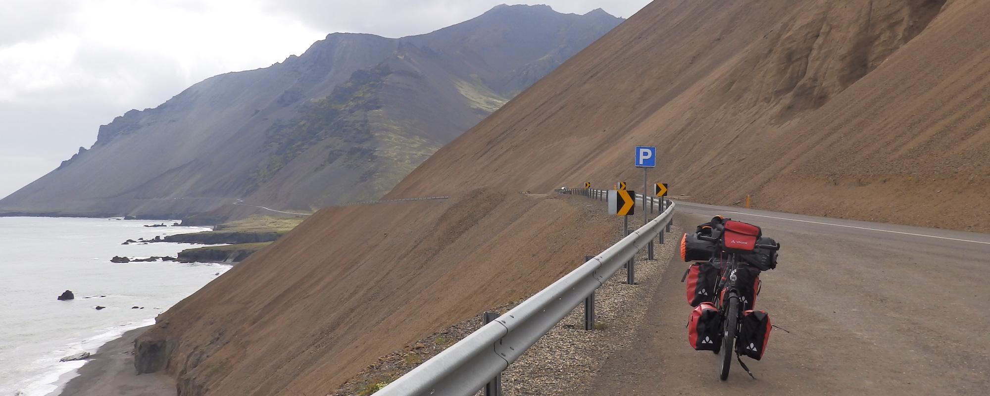 En Islande à vélo dans les fjords de l'Est en 2014