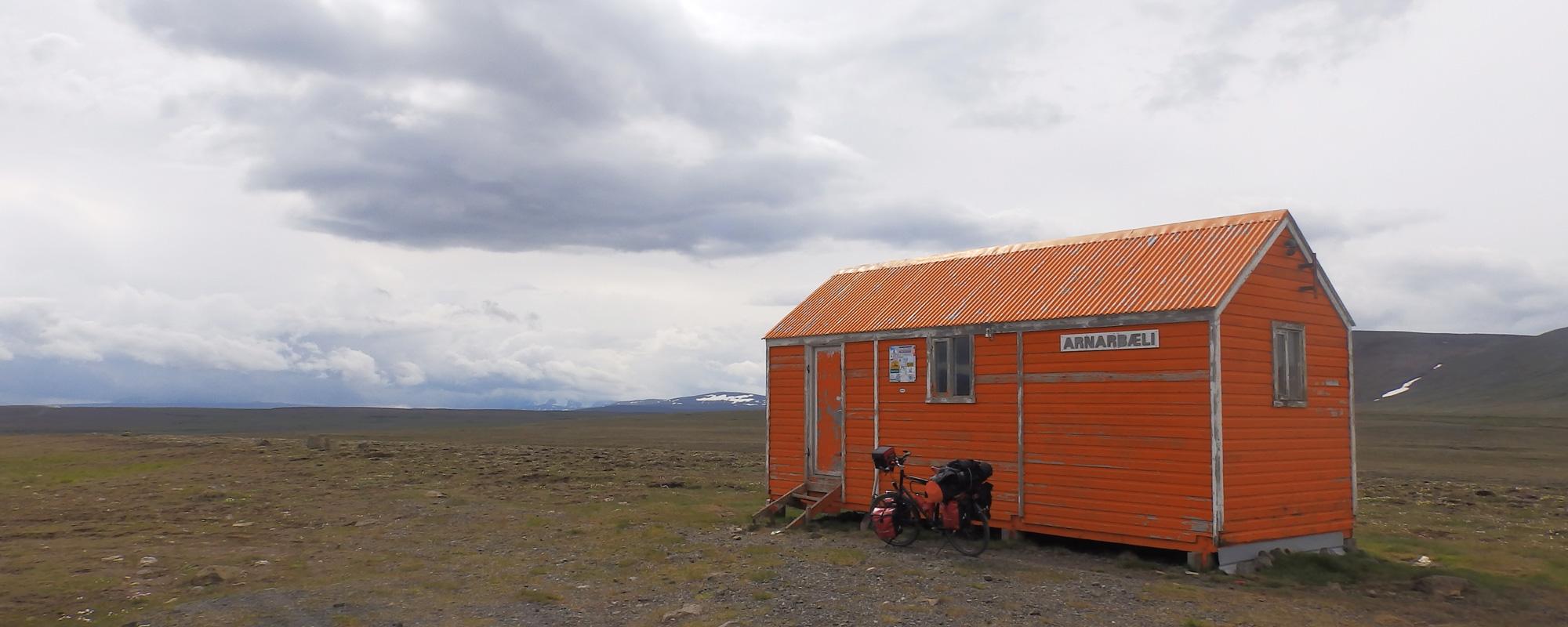 En Islande à vélo en 2014, sur la piste Kjolur