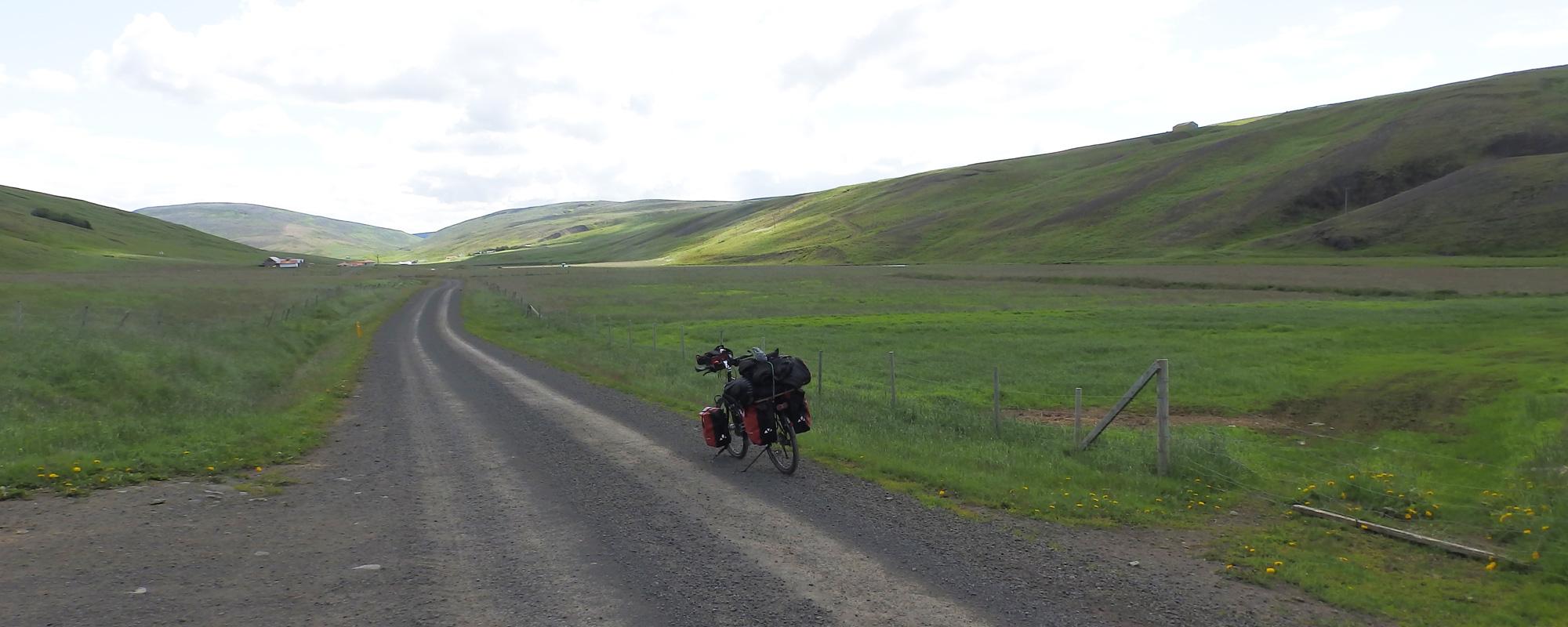 """En Islande à vélo en 2014, direction piste F35 """"Kjolur"""" du nord vers le Sud"""